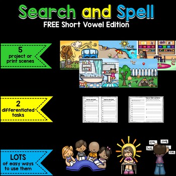 Search and Spell: Short Vowel Edition
