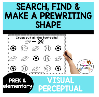 Search and find: Visual perceptual skills & pre-writing practice! prek123 SPED