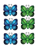 Search and find the letters- Butterflies
