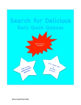 Search for Delicious Daily Quizzes