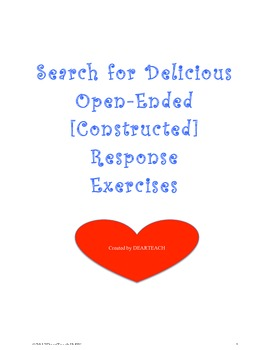 Search for Delicious Open-Ended [Constructed] Responses