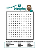 """Search for Jesus' Twelve Disciples"" Word Search Puzzle"