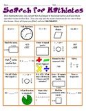 Search for Mathletes - A Whole Group Math Activity to Get to Know Classmates