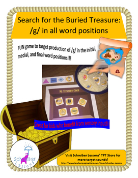 Search for the Buried Treasure - /g/ in all word positions (sensory component!)