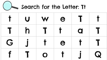 Search for the Letter