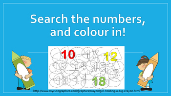 Search the numbers and colour in