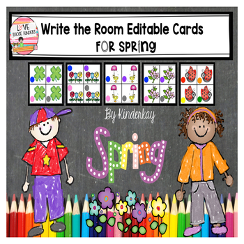 Write the Room Editable Cards for Spring