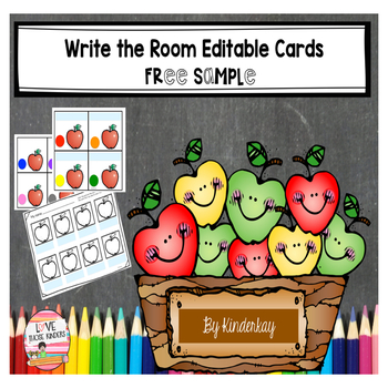 Write the Room Editable Cards  FREE SAMPLE