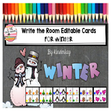 Write the Room Editable Cards for Winter