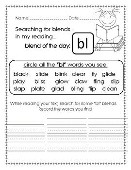Searching for Beginning Blends