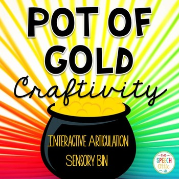Searching for Gold Interactive Articulation Sensory Bin