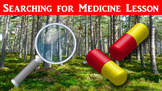 Searching for Medicine Lesson with Power Point and Worksheet