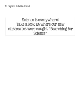 Searching for Science Back to School Bulletin Board