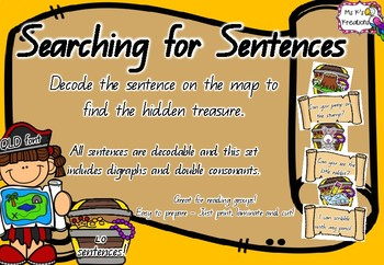 Searching for Sentences - Decodable sentence/picture match up