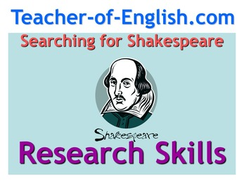 Searching for Shakespeare (non fiction, research and note