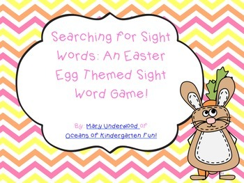 Searching for Sight Words: An Easter Egg Themed Sight Word Game