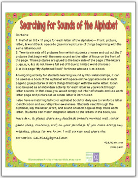 Searching for Sounds of the Alphabet: Activities for Sound Symbol Awareness