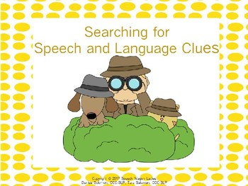 Detective Themed Decor: Searching for Speech and Language Clues