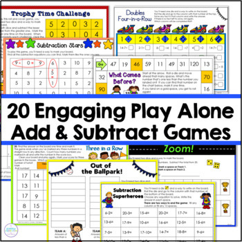 Addition Games Sums through 20 : Searching for Sums
