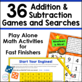 Add and Subtract Within 20 | Independent Math Games and Ac