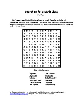 picture about Pi Day Worksheets Printable titled On the lookout for a Math Cl, Pi Working day Term Glance