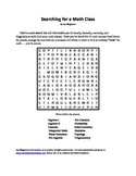 Searching for a Math Class, Pi Day Word Search