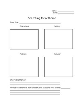 Searching for a Theme