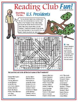 Searching for the U.S. Presidents Word Search Puzzle
