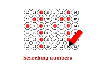 Searching numbers