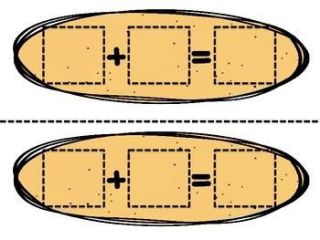 Seashell Addition- CCSS Math Grade 1- Missing addens