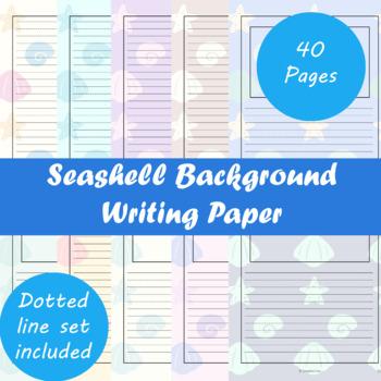 Seashell Background Writing Paper