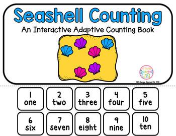 Seashell Counting Adaptive Book (#1-10)