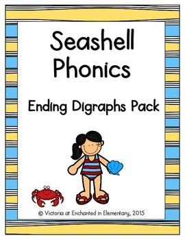 Seashell Phonics: Ending Digraphs Pack