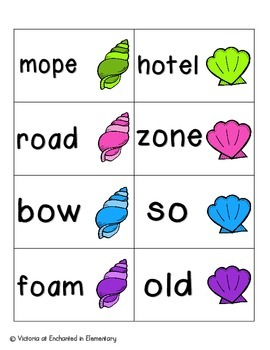 Seashell Phonics: Long O Pack