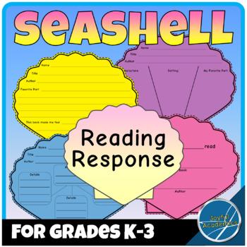 Seashell Shaped Reading Response Sheets for Any Book