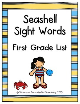 Seashell Sight Words! First Grade List Pack