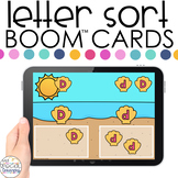 Seashell Theme Letter Sort Boom™ Cards - Distance Learning