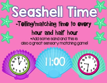 Seashell Time Matching to every hour and half hour