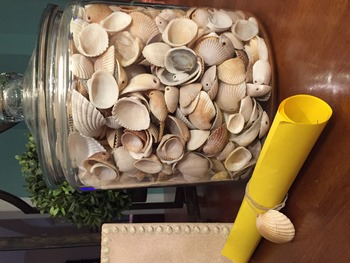 Seashell bags (to go with Welcome poems and activities)