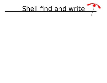 Seashell find and write recording sheet