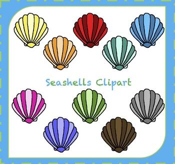 Seashells Clipart / Ocean Clipart / Shells Clipart