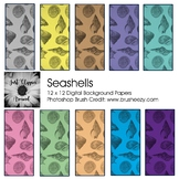 Seashells Digital Backgrounds