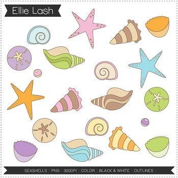 Seashells Digital Clipart