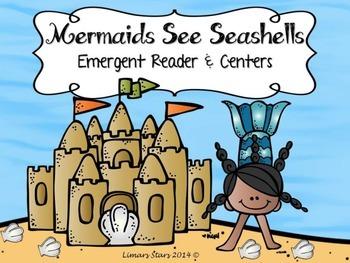 Seashells & Mermaids Emergent Reader & Centers