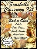 Seashells Teacher Binder: Beach Theme Classroom Kit & Lesson Planner Bundle