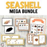 Seashells activities bundle with Montessori printables! Math, language, & more!