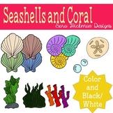 Seashells and Coral Clipart Set