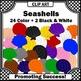Seashells Clip Art, Beach Clip Art for Summer School Activ