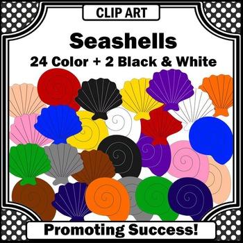 Seashell Clip Art, Beach Clipart