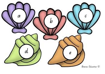 Seashore Alphabet Game - Australian Font